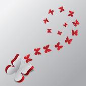Ritagliare le farfalle di carta — Vettoriale Stock
