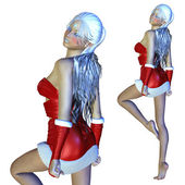 3d Santa girl — Zdjęcie stockowe