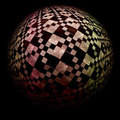 Checkered sphere — Stock Photo