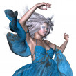 Fantasy woman with white hair — Stock Photo