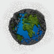 Abstract globe — Stock Photo