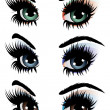 Evening eye make up — Imagen vectorial
