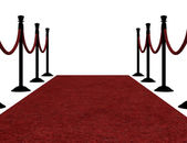 3d Red carpet — Stock Photo