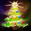 Cartoon Christmas tree background — Stock Photo