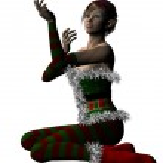 Elf Santa helper — Stock Photo #36382599