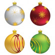 Decorative Christmas balls — 图库矢量图片