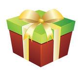 Две цветные Подарочная коробка — Cтоковый вектор