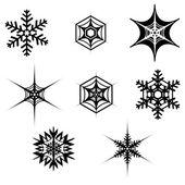декоративные снежинки — Cтоковый вектор