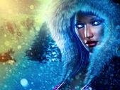 Kış kraliçe — Stok fotoğraf