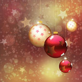 Red and gold Christmas balls — Stock Photo