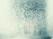 Frosted window — Stock Photo