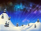 Beautiful winter night — Stock Photo