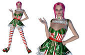 Girl in Christmas outfit — Stock Photo