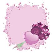 Hjärtan och rosor — Stockvektor