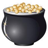 Kruka med guld — Stockvektor