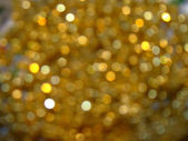 Golden bokeh background — Stock Photo