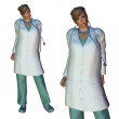 Stock Photo: 3d Female doctor