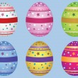 Decorative Easter eggs — Stock Vector #40158501