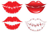 Lips kiss — Stock Vector