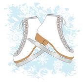 Ice skates background — Stock Vector