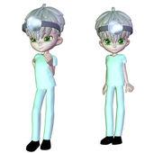 3d Cartoon nurse — Stock Photo
