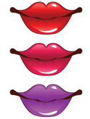 Cartoon lips — Stock Vector