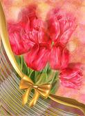 Tulips on Bokeh Background — Stock Photo