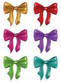 Silk Bows Set — 图库矢量图片