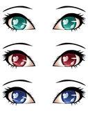 Stylized Eyes — Stock Vector