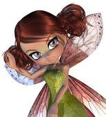 Fada flor bonita — Foto Stock