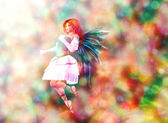 Fairy on Bokeh background — Stock Photo
