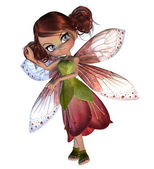 Cute Blossom Fairy — Stock Photo