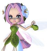 Cute Floral Fairy — Stock Photo