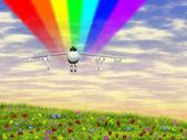 3-й самолет — Стоковое фото