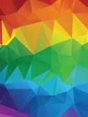 Rainbow Polygonal Background — Stock Vector