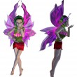 3D Floral Fairy — Stock Photo