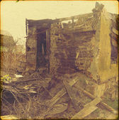 Burned Down House — Stock Photo