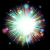 Colorful Light Burst — Stock Photo