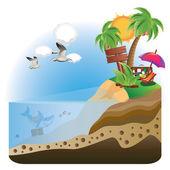 Treasure Island — Stock Vector