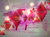Background of 3d Triangles — Foto Stock