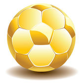 Golden Soccer Ball — Vector de stock