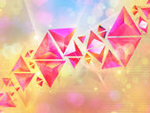 Background of 3d Triangles — Stock Photo