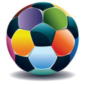 Colorful Soccer Ball — Stock Vector