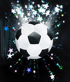 Stars Explosions and Soccer Ball — Stock Photo