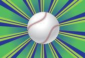 Baseball bollen bakgrund — Stockvektor