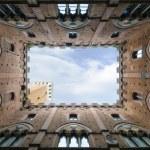 Siena - Palazzo Pubblico e Torre del Mangia — Stock Photo #43709331