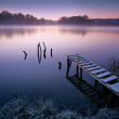 Misty lake — Stock Photo