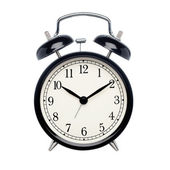 μαύρο ρολόι συναγερμών — Φωτογραφία Αρχείου