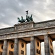Quadriga on the top of Brandenburg Gate — Stock fotografie