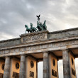 Quadriga on the top of Brandenburg Gate — 图库照片